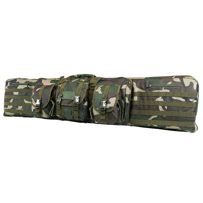 VISM by NcSTAR CVDC2946WC-42 DOUBLE CARBINE CASE/WOODLAND CAMO/42 IN