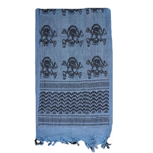 Fox Tactical Tactical Shemagh - BLUE / SKULLS