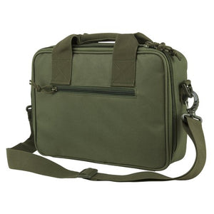 VISM by NcSTAR CPDX2971G DOUBLE PISTOL RANGE BAG/ GREEN