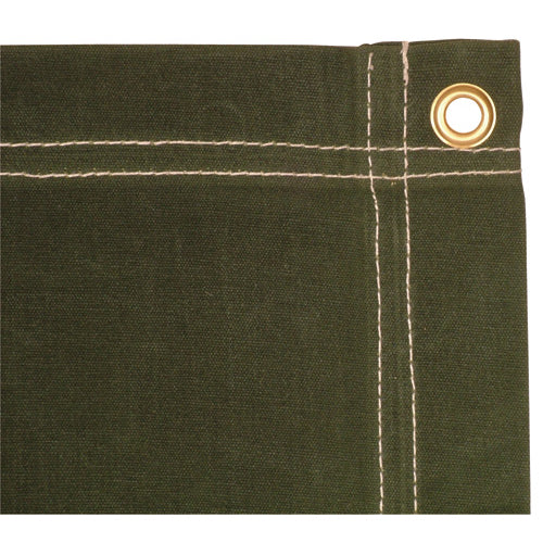 Fox Outdoors Canvas Tarp 20' X 40' OD Green Made In USA