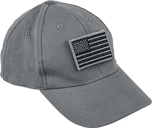 VooDoo Tactical 20-9351014000 Cap with Removable Flag Patch Gray