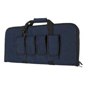 "VISM by NcSTAR CVCP2960BL-28 AR & AK PISTOL, SUBGUN GUN CASE 2910 (28""L X 13""H)/ BLUE WITH BLACK TRIM"
