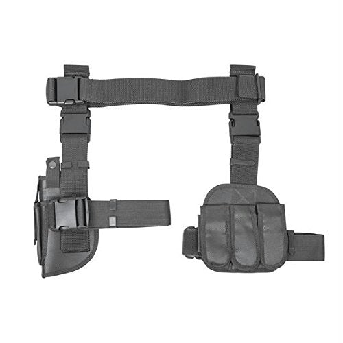 VISM CV2908U Dropleg Gun Holster/Mag Holder, Gray