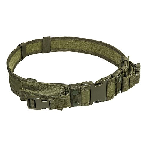 "VISM by NcSTAR CVBLT2978G 2"" TATICAL BELT WITH TWO POUCHES/ GREEN"