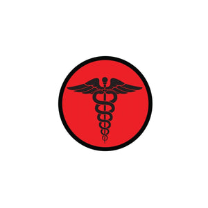 GPS Survival Medical & Morale Patches EMS Round RED