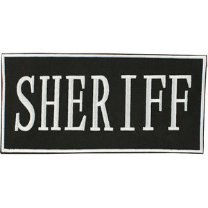 "Fox Tactical ENFORCEMENT ID PATCH 2"" X 4"" - SHERIFF"