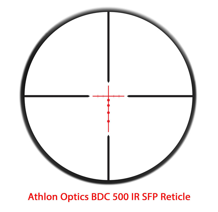 "Athlon Optics Neos Rifle Scope 1"" Tube 4-12x40mm SFP BDC 500 IR 216009 FREE SHIPPING"