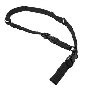 VISM by NcSTAR AARS21PB 2 POINT OR 1 POINT SLING WITH METAL SPRING CLIPS - BLACK