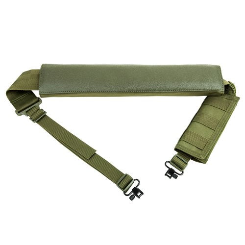 VISM by NcSTAR AASHG SHOTGUN BANDOLIER SLING WITH SLING SWIVEL HARDWARE - GREEN