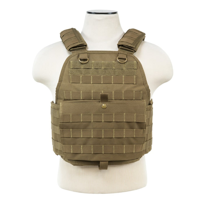 VISM by NcSTAR CVPCV2924T PLATE CARRIER VEST/DIGITAL TAN
