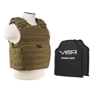 "LEVEL IIIA NcSTAR EXPERT PLATE CARRIER VEST (MED-2XL) WITH 10""X12' LEVEL IIIA SHOOTERS CUT 2X SOFT PANELS LARGE"