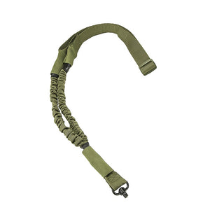 VISM by NcSTAR AQDBS1G Single Point Bungee Sling with QD Swivel - OD Green
