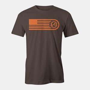 Athlon Optics Flag T-Shirt Brown