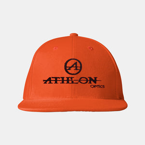 Athlon Optics Logo Flatbill Hat Orange