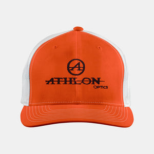 Athlon Optics Logo Trucker Hat Orange