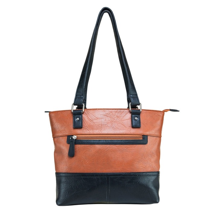 VISM by NcSTAR Concealed Carry Tote Bag BWA002 Tote Bag Brown w/ Black Trim