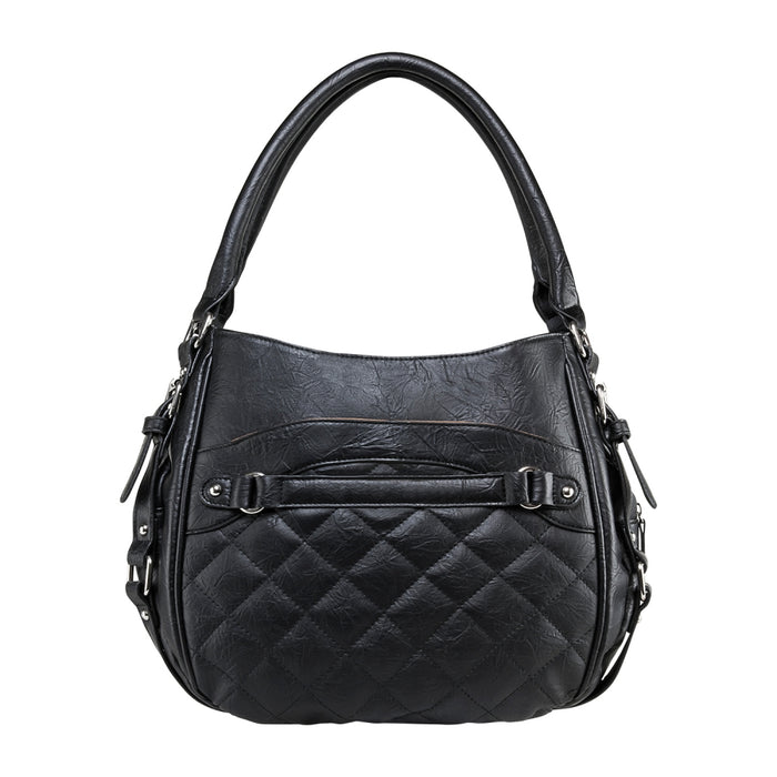 VISM by NcSTAR Concealed Carry BWD001 Quilted Hobo Bag Black