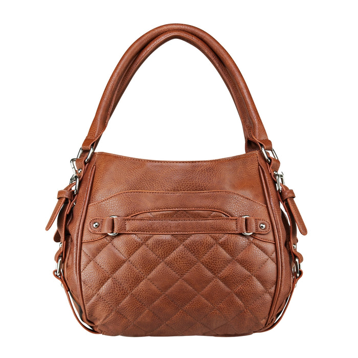 VISM by NcSTAR Concealed Carry BWD003 Quilted Hobo Bag Brown