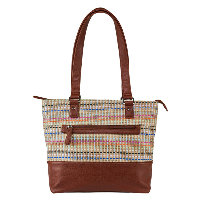 VISM by NcSTAR Concealed Carry Tote Bag BWK003 Woven Tote Brown