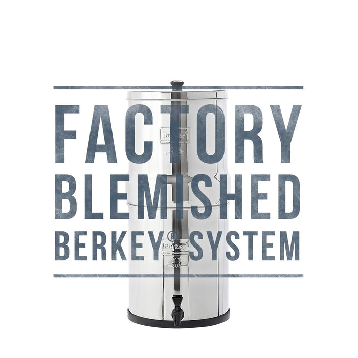 FACTORY BLEMISHED Berkey Water Purification Systems With Black Berkey Filters