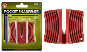 "Pocket-Sized Dual Ceramic Sharpener 2-1/4"" x 13/16"" x 2"""