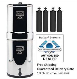 Crown Berkey CRN8X4-BB 6 Gal. Water Purifier With 4 Filters