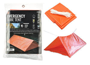 Camping Tube Tent, Orange Color