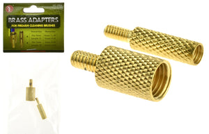 SE GC-2BA 2Pc Brass Adapter( 9mm & 5MM Dia) For Firearm Cleaning Brushes