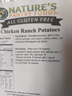 Aftershock Emergency Meals Chicken Ranch Potatoes