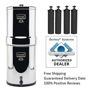 Berkey IMP6X4-BB Imperial Stainless Steel Water Filtration System 4.5 Gallon With 4 Filters