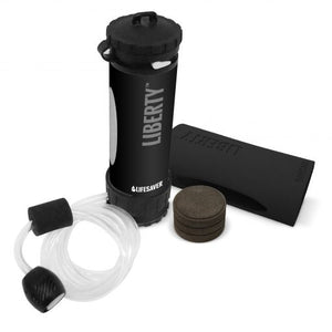 LIFESAVER Liberty Water Filtration Bottle Starter Pack 2000UF - Black