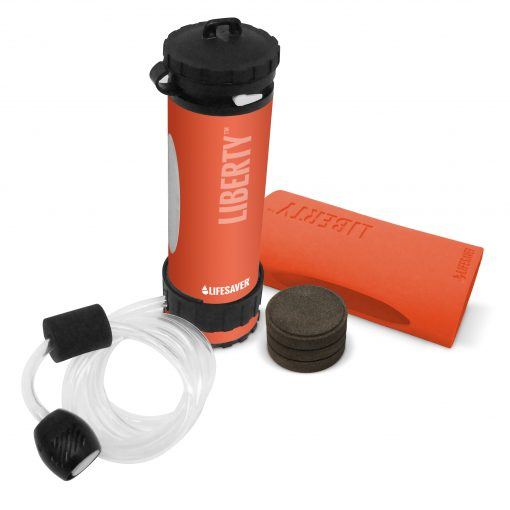 LIFESAVER Liberty Water Filtration Bottle Starter Pack 2000UF - Orange
