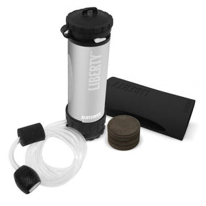 LIFESAVER Liberty Water Filtration Bottle Starter Pack 2000UF - Silver