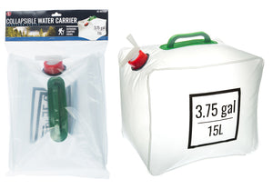 3.75 Gallon (15L) Collapsible Water Carrier with Handle