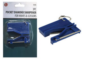 Pocket Diamond Knife & Scissor Sharpener with Key Chain