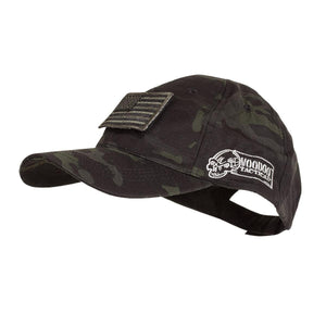 VooDoo Tactical 20-9351072000 Cap With Removable Flag Patch Black Multicam