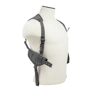 VISM by NcSTAR CV2909U AMBIDEXTROUS HORIZONTAL SHOULDER HOLSTER/DOUBLE MAGAZINE HOLDER/URBAN GRAY