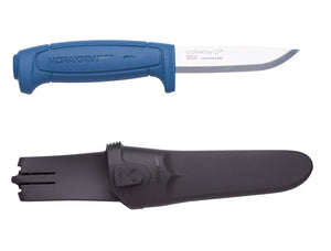 Morakniv Craftline Basic 546 Fixed Blade Utility Knife with Sandvik Stainless Steel Blade and Combi-Sheath, 3.6-Inch