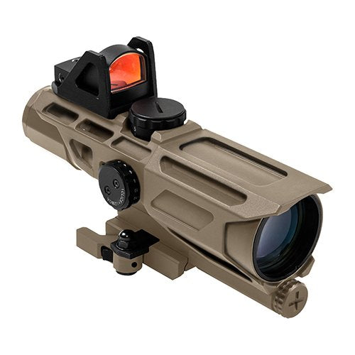 VISM by NcSTAR VSTP3940GDV3T GEN3 ULTIMATE SIGHTING SYSTEM 3-9X40 SCOPE/ WITH RED DOT OPTIC/ AA BATTERY/ LOCKING QUICK RELEASE MOUNT/ P4 SNIPER/ TAN