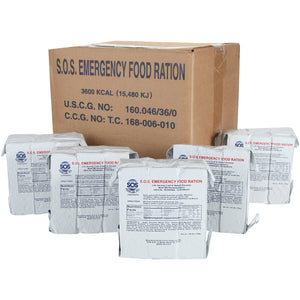 S.O.S. Rations Emergency 3600 Calorie Food Bar - 3 Day / 72 Hour Package with 5 Year Shelf Life- FULL CASE