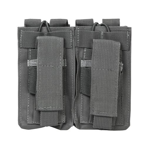 VISM by NcSTAR CVAR2MP2927U AR DOUBLE MAG POUCH/URBAN GRAY