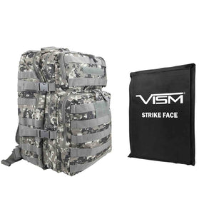 "LEVEL IIIA VISM by NcSTAR BSCBAD2974-A ASSAULT BACKPACK WITH 11""x14"" LEVEL IIIA SOFT BALLISTIC PANEL/ DIGITAL CAMO"