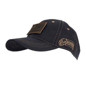 Voodoo Tactical 20-9352064000 Cap with Removable Flag Patch Black/Coyote