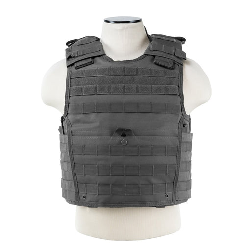 "VISM by NcSTAR CVPCVX2963U EXPERT PLATE CARRIER VEST (UP TO 11""x14"" ARMOR PLATE POCKET)/LARGE/URBAN GRAY"