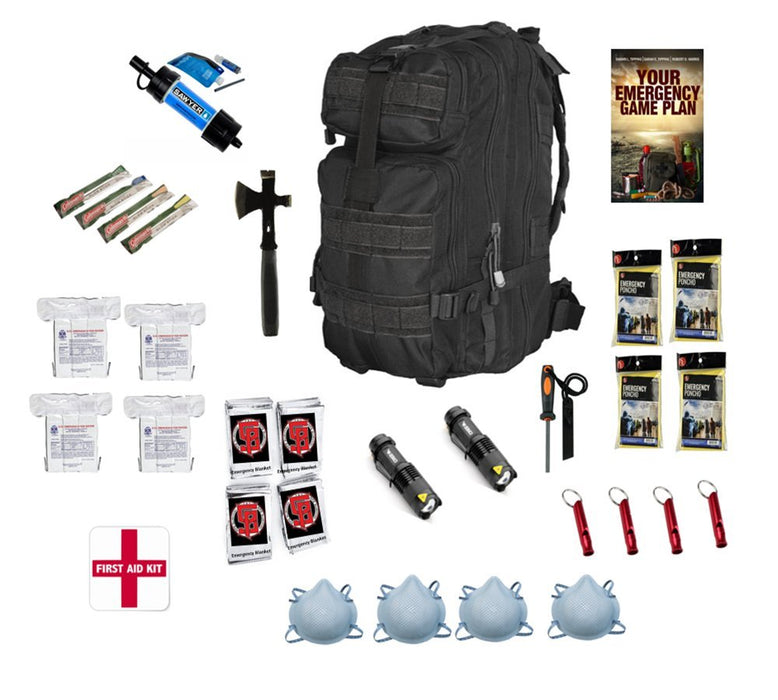 GPS Survival 72 Hour Emergency Kit for 4