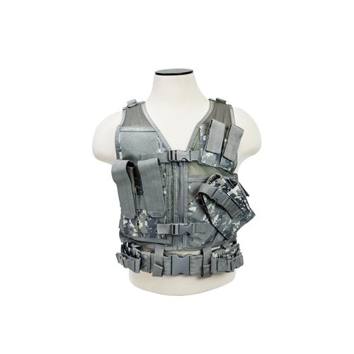 VISM by NcSTAR CTVC2916D TACTICAL VEST/DIGITAL CAMO XS-S