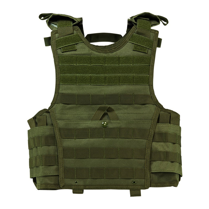 "VISM by NcSTAR CVPCVXC2963G EXPERT PLATE CARRIER VEST (8""x10"" ARMOR PLATE POCKET)/SMALL/ GREEN"