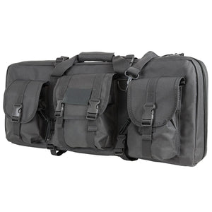 "VISM by NcSTAR CVCPD2962U-28 DELUXE CASE WITH 3 ACCESSORY POCKETS (28""L X 13""H)/ URBAN GRAY"
