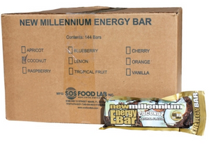 SOS Food Labs SOS-COCONUT-144 Millennium Bars 400-Calorie Coconut Case