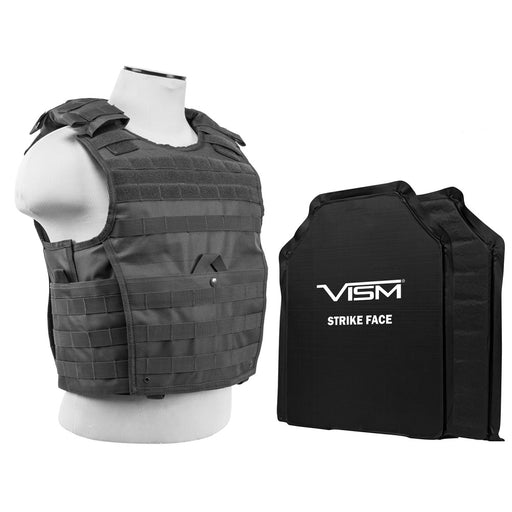 "Level III Plus VISM by NcSTAR BSLCVPCVX2963U-A EXPERT PLATE CARRIER VEST WITH 11""X14' LEVEL IIIA SHOOTERS CUT 2X SOFT BALLISTIC PANELS/ URBAN GRAY"